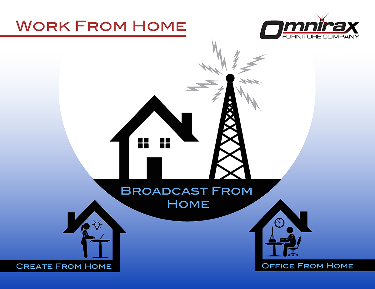 Omnirax Work From Home for Broadcasters