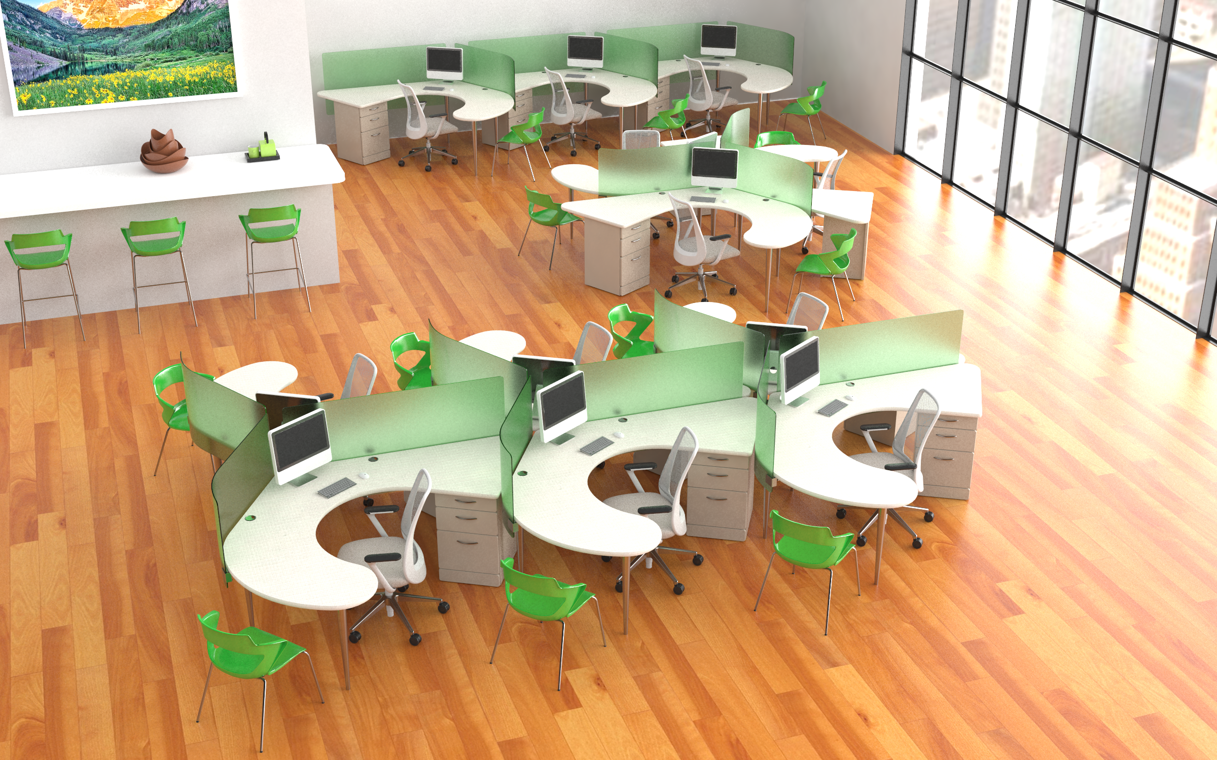 an Open Office Floor Plan
